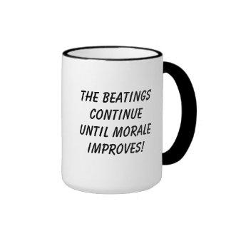 The Beatings Continue Ringer Mug