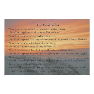 The Beatitudes Poster