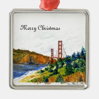 The Beautiful Golden Gate Bridge Christmas Ornament