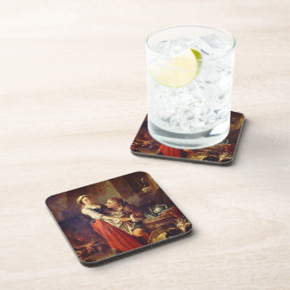 The beautiful kitchen by Francois Boucher Beverage Coaster