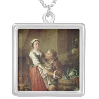 The Beautiful Kitchen Maid Silver Plated Necklace