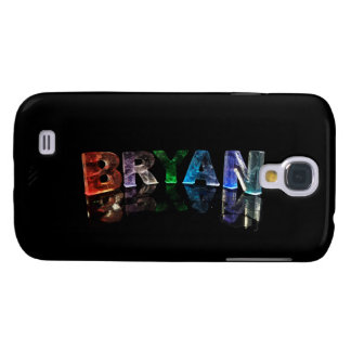 The Beautiful Name Bryan in 3D Lights Galaxy S4 Case