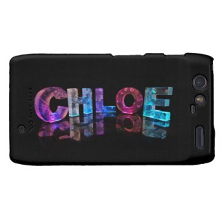 The Beautiful Name Chloe in 3D Lights Motorola Droid RAZR Covers