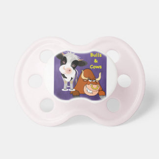 The beautiful one and the beast Cowstyle Baby Pacifiers