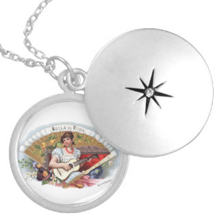The Beautiful one of Cuban Vintage Cuba Round Locket Necklace