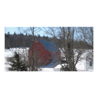 THE BEAUTIFUL RED BARN PERSONALIZED PHOTO CARD