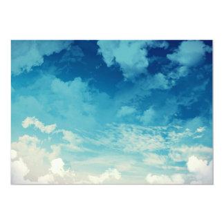 The beautiful sky... Clouds 13 Cm X 18 Cm Invitation Card