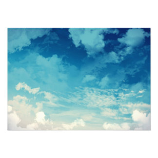 The beautiful sky Clouds Personalized Announcement