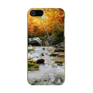The beautiful waterfall in forest, autumn incipio feather® shine iPhone 5 case