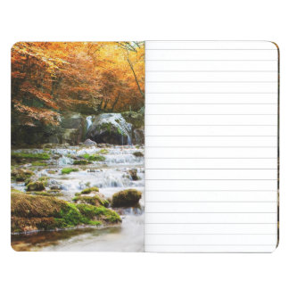 The beautiful waterfall in forest, autumn journals