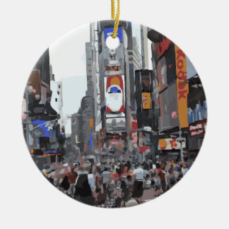 The Beauty of a City Round Ceramic Decoration