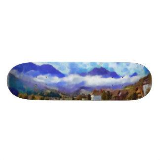 The beauty of a Swiss landscape 20.6 Cm Skateboard Deck