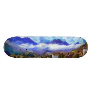The beauty of a Swiss landscape Custom Skateboard