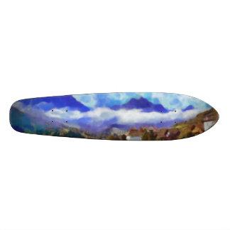 The beauty of a Swiss landscape Skate Board Deck