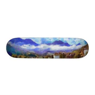 The beauty of a Swiss landscape Skateboard Decks