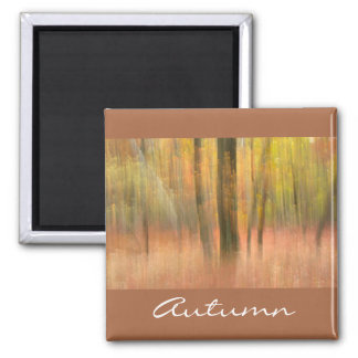 the beauty of Autumn Square Magnet