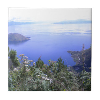 The Beauty of Lake Toba Small Square Tile