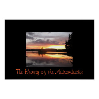 The Beauty of the Adirondacks Poster
