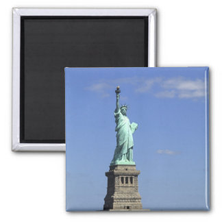 The beauty of the famous Statue of Liberty on Square Magnet