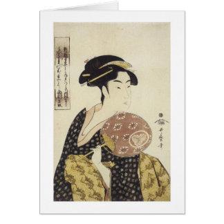 The Beauty Ohisa, Utamaro, 1792-95 Greeting Card
