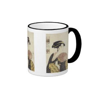 The Beauty Ohisa, Utamaro, 1792-95 Mug