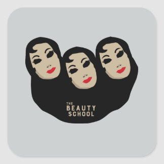 The Beauty School Square Stickers - Grey