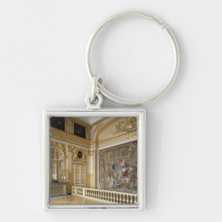 The bedchamber of Louis XIV Silver-Colored Square Key Ring