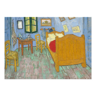 The Bedroom by Vincent Van Gogh Personalized Announcement