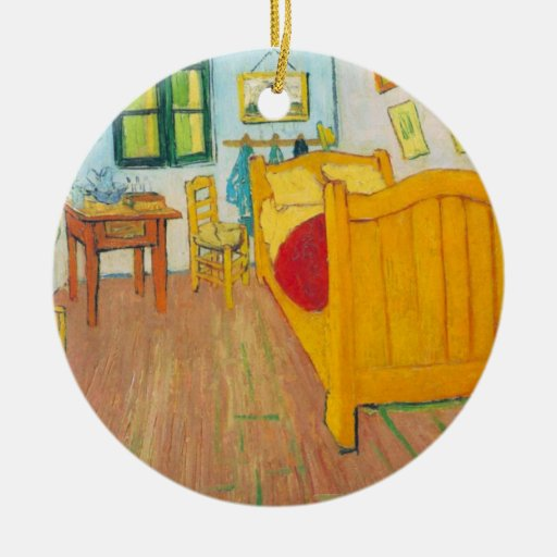 The bedroom in Arles. Saint-Remy by van Gogh Christmas Ornament