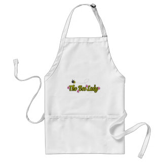 the bee lady with flowers aprons