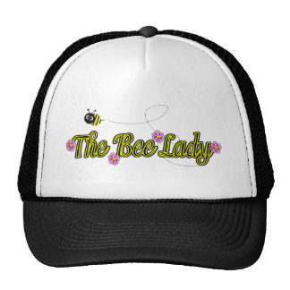 the bee lady with flowers hats