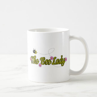 the bee lady with flowers mug