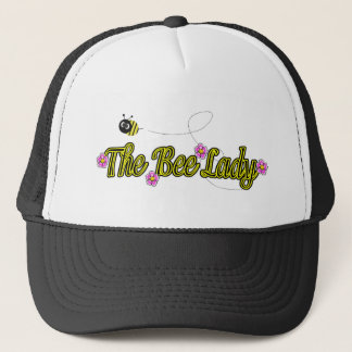 the bee lady with flowers trucker hat