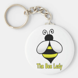The Bee Lady yellow Basic Round Button Key Ring