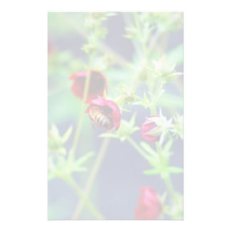 The Bee With the Red Flower Stationery