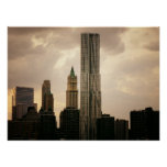 The Beekman Tower and Woolworth Building, Medium Poster