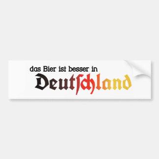 The Beer is Better in Germany Sticker - Deutsch!