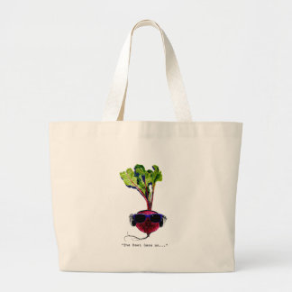The beet goes on-light jumbo tote bag