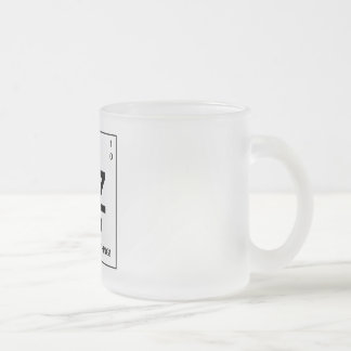 The Beezid Element Frosted Glass Coffee Mug