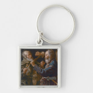 The Beggars' Brawl, c.1625-30 (oil on canvas) Key Ring