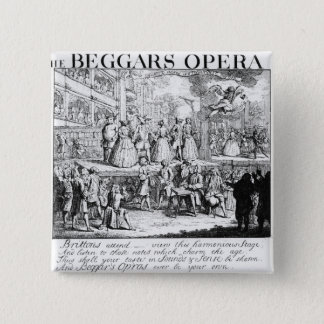 The Beggar's Opera Burlesqued, 1728 15 Cm Square Badge