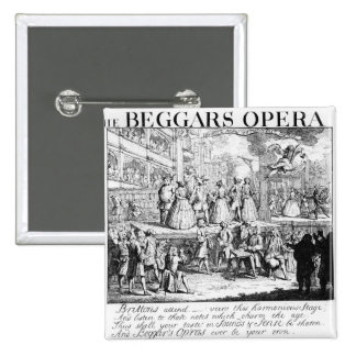 The Beggar's Opera Burlesqued, 1728 15 Cm Square Badge