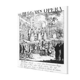 The Beggar's Opera Burlesqued, 1728 Canvas Print