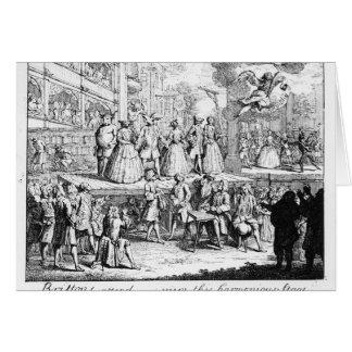 The Beggar's Opera Burlesqued, 1728 Card