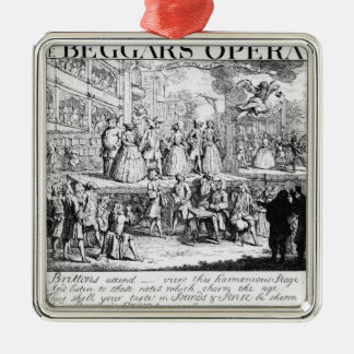 The Beggar's Opera Burlesqued, 1728 Christmas Ornament