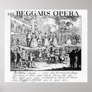 The Beggar's Opera Burlesqued, 1728 Poster