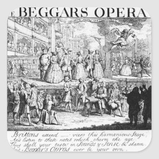 The Beggar's Opera Burlesqued, 1728 Square Sticker