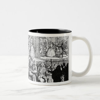 The Beggar's Opera Burlesqued, 1728 Two-Tone Coffee Mug