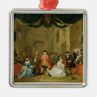 The Beggar's Opera, Scene III, Act XI, 1729 (oil o Christmas Ornament