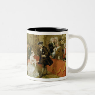 The Beggar's Opera, Scene III, Act XI, 1729 (oil o Two-Tone Coffee Mug